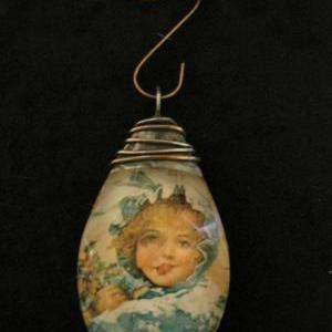 Christmas Girl Pendant or Ornament
