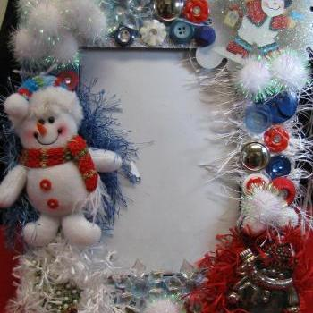 Snowmen Christmas Decorative  5 x 7 Frame